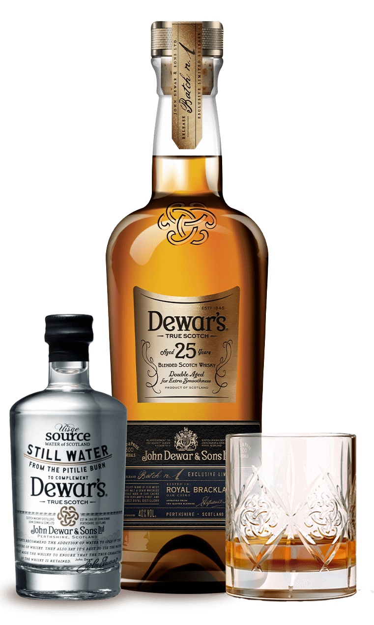 Pitilie Burn Water Serve with Dewar's 25 Year Old