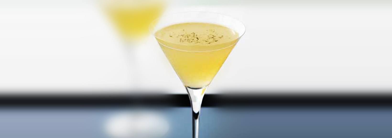 Black Truffles Martini Cocktail
