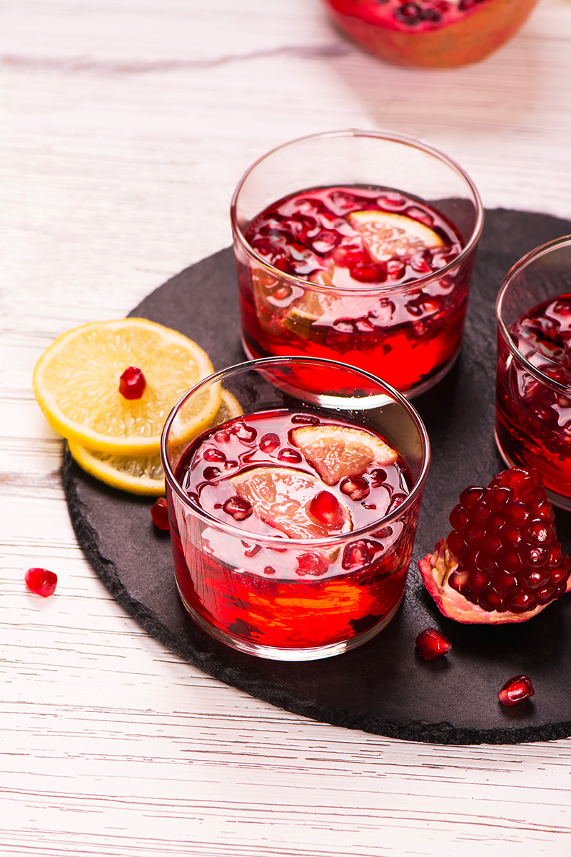 Pomegranade Champagne Punch